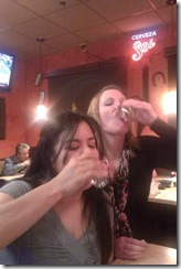 Renae and I doing a shot
